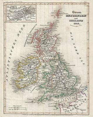 1849 Meyer Map of the British Isles (Great Britain and Ireland)