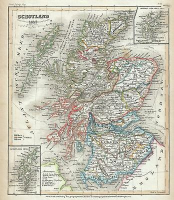 1849 Meyer Map of Scotland