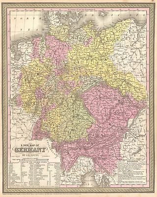 1854 Mitchell Map of Germany