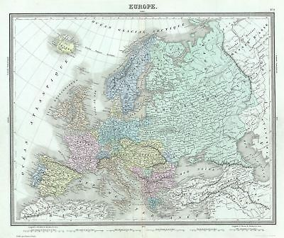 1874 Tardieu Map of Europe