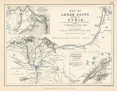 1852 Blackwood Map of Egypt and the Nile Delta
