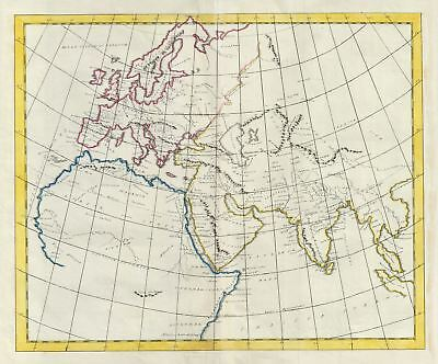 1823 Manuscript Map of the Ancient World: Europe, Asia and Africa