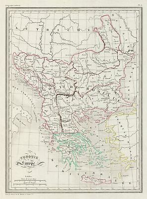 1843 Malte-Brun Map of Turkey in Europe and Greece