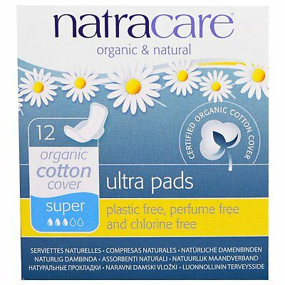 Natracare: Ultra Pads, Organic Cotton Cover, Super, 12 Pads