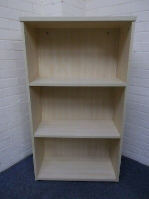 Light Beech/Maple Three Shelf Bookcase
