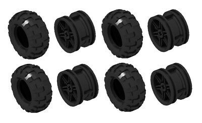 ☀️NEW Lego 56x26 Technic Balloon Tires LOT OF 4 with Black Wheels NXT Mindstorms