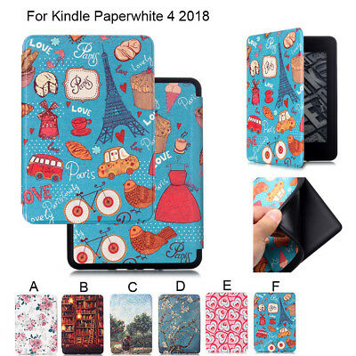 Leather For Amazon Kindle Paperwhite 4 10th Gen Leather Stand Smart Case Cover