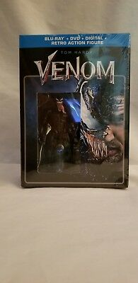 New VENOM +RETRO ACTION FIGURE BLU-RAY + DVD + DIGITAL LIMTED EDITION