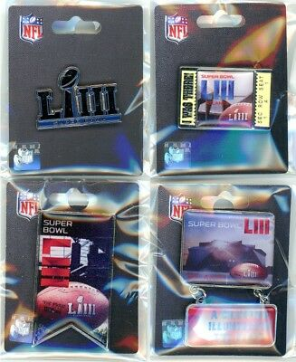 Super Bowl LIII Pin Choice Choose from 4 Pins 53 Atlanta 2019 ATL Rams Patriots