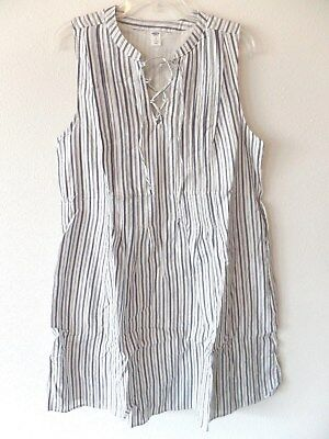 0c2de98881d75f Old Navy Womens LT Large Tall Cotton Rayon Sleeveless Downstripe Dress  Lined New