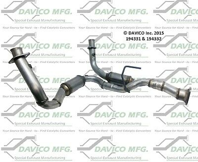 Davico Catalytic Converter Front Driver Left Side New LH Hand for 194331