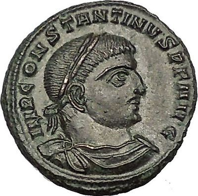 Constantine I 'The Great' 317AD Ancient Roman Coin Sol Sun God with globe i54132
