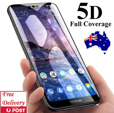 5D Full Coverage Tempered Glass Screen Protector For Nokia 2.1 6 2018 6.1 7 Plus