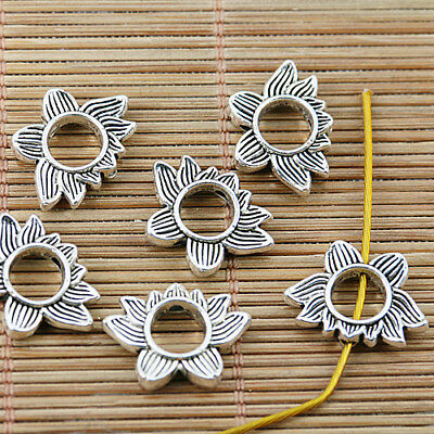 20Pcs Tibetan silver color follow lotus design charms h0026