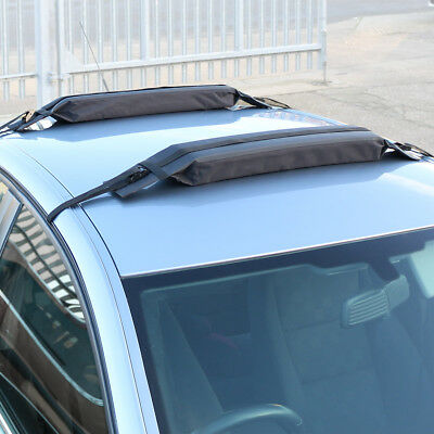 Pair Of Universal Soft/Padded Car Roof Bars Luggage/Kayak/Surfboard Rack/Carrier