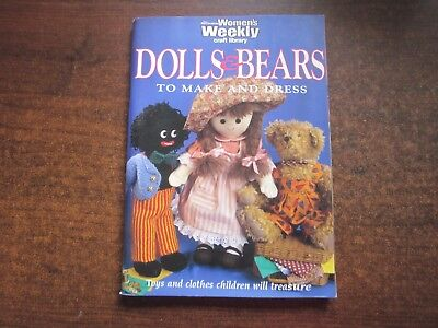Women's Weekly DOLLS & BEARS TO MAKE AND DRESS Teddy Bear Barbie Baby Clothes