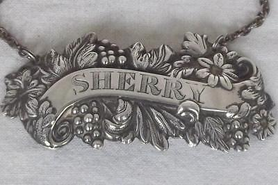 A Stunning Vintage Solid Sterling Silver Sherry Decanter Label Birmingham 1965.