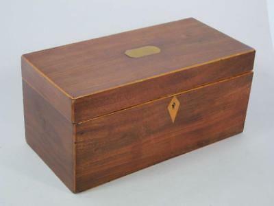 BEAUTIFUL GEORGIAN ANTIQUE INLAID MAHOGANY TEA CADDY GEORGE III 1780 box casket