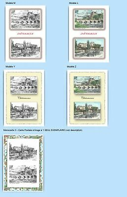 Cp Cpa Cpm Cpsm 4 Cartes Postales Diff. + 1 Monocarte 36004-36009 Chateauroux