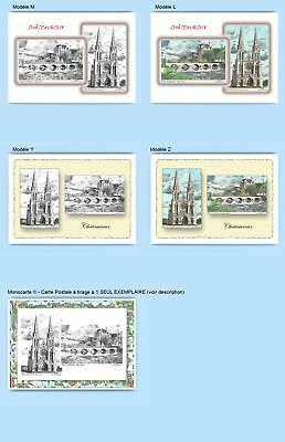 Cp Cpa Cpm Cpsm 4 Cartes Postales Diff. + 1 Monocarte 36009-36011 Chateauroux