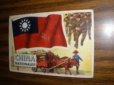 1956 Topps Flags of the World #18 China Vg