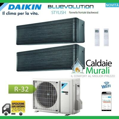 Climatizzatore Daikin Bluevolution Dual Stylish Blackwood 7000+7000 Con 2Mxm40M