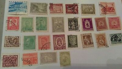 Lot Of 41 Bulgaria  Stamps   Used  Cancelled   Hinged  Some Doubles