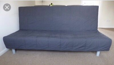 Ikea Beddinge Sofa Bed Cover Grey 2 X Cushion Covers Excellent