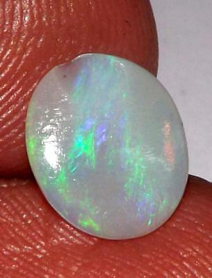 0.70 cts Australian Fire Opal  Natural Untreated 9 x 8 mm Cabochon #oau2818