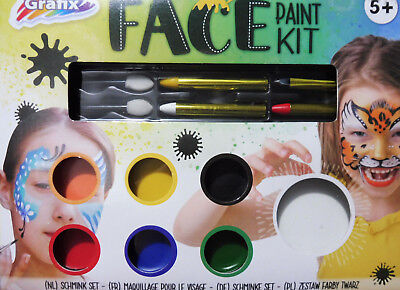 Grafix - Face Paint Kit - Gesichtsmalerei Kinderschminken Schminke Set - 14 tlg