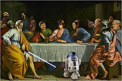 STAR WARS Last Supper Movie Poster 24x36 FREE Shipping from USA