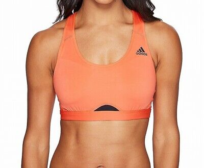 c95bb0a79fa4a Adidas NEW Black Pink Coral Women s Size Small S Racerback Sports Bra-  170