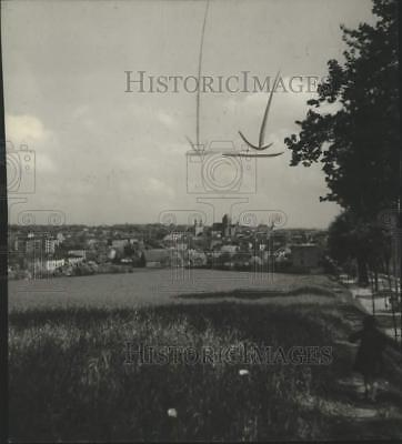1939 Press Photo View of the First Town in Poland, Chojnice - mjx75728