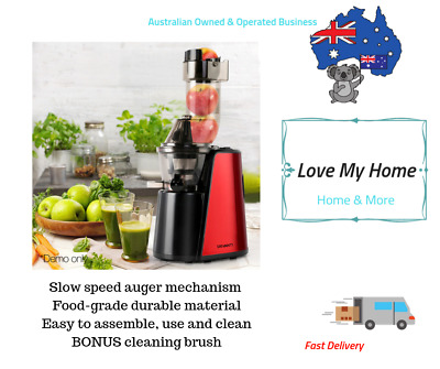 Slow Juicer Cold Press Whole Fruit Stainless Steel Juice Extractor Mixer