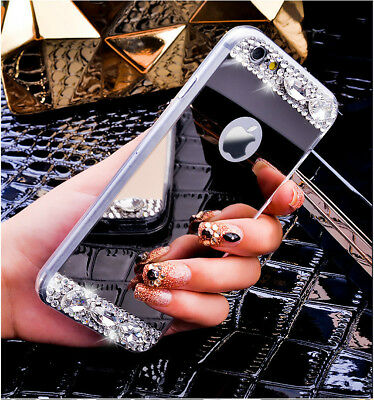 Bling Crystal Cute Glitter Diamond Mirror Back Case Phone Covers for iPhone