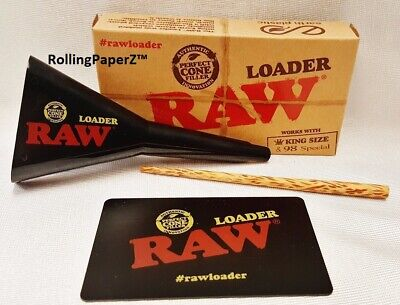 RAW 3 in 1 Loader- Scraping Card, Cone Loader, Bamboo Poker King Size 98 Special