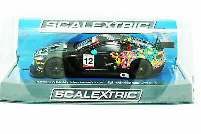 NEW Scalextric Aston Martin GT3 Hatch GT Cup 2017:1/32 Slot Car FREE US SHIP
