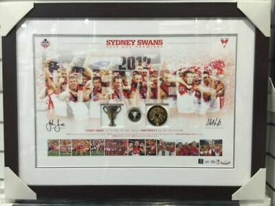 Sydney Swans 2012 Afl Premiers Dual Signed Framed Coin Collection Deluxe Print