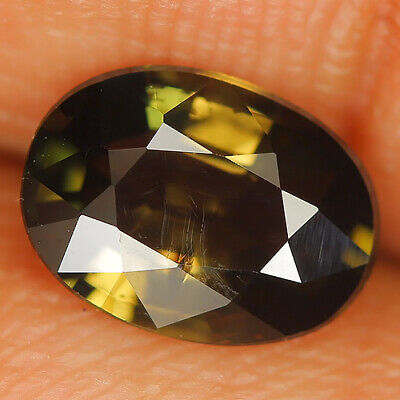 1.38 Ct Natural Unheated Greenish Yellow KORNERUPINE Oval Gem @ See Video !!