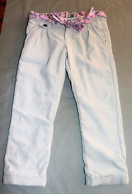 UNITED COLORS OF BENETTON Girls Corduroy Trouser Pants Size 3-4 LIKE NEW #GIR1