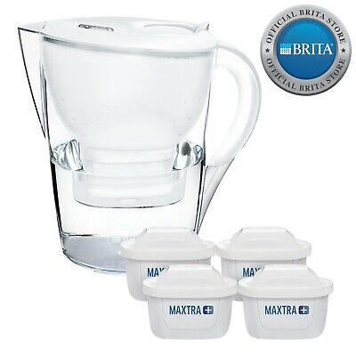 BRITA Marella Water Filter Jug 3.5L & 4 MAXTRA+ Filters White