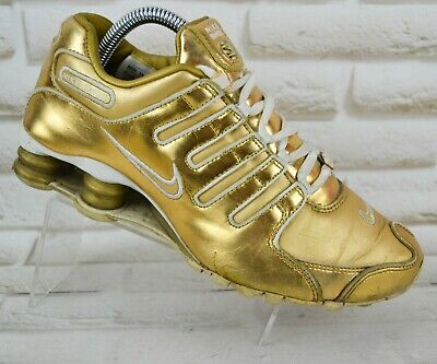 cheap for discount 6a799 dda27 NIKE SHOX NZ Womens Gold Leather Trainers Sneakers Sport Shoes Size 5 UK  38.5 EU - EUR 38,97   PicClick IT