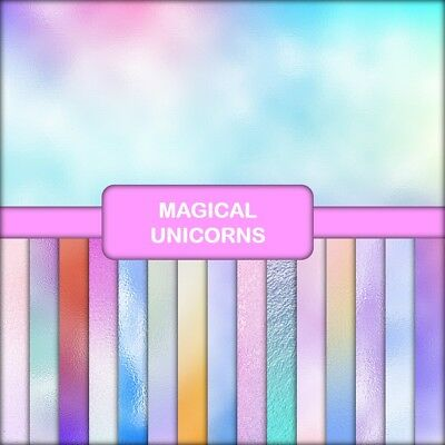 MAGICAL UNICORNS SCALES SCRAPBOOK PAPER - 16 x A5 Pages