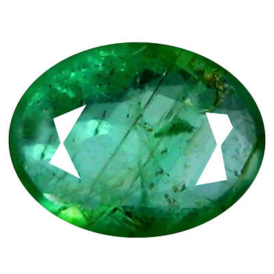 0.73 ct FIRST-CLASS OVAL CUT (7 x 5 mm) COLOMBIAN EMERALD NATURAL GEMSTONE