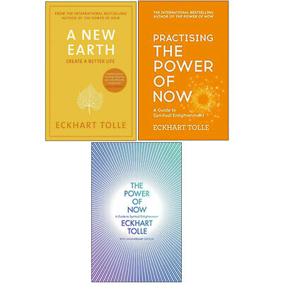 Power of Now, A New Earth and Practising The Power Of Now 3 Books Collection Set