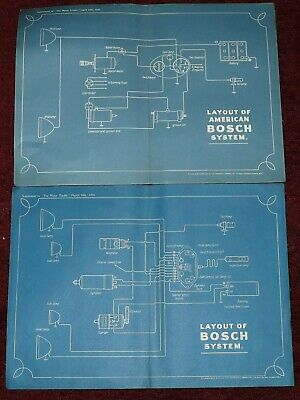 wiring diagrams vintage layout of bosch systems x2 circ1926/7  rolls-royce  usa