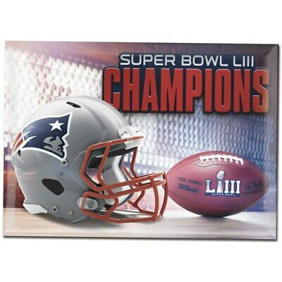 New England Patriots WinCraft Super Bowl LIII Champions 2.5'' x 3.5'' Rectangle