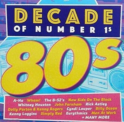Decade Of Number 1's -1980's NEW SEALED 2CD Selection Of Eighties Greatest Hits