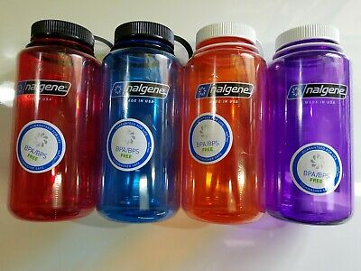 Nalgene 32oz Wide Mouth Tritan BPA Free Water Bottle, 8 Colors Available