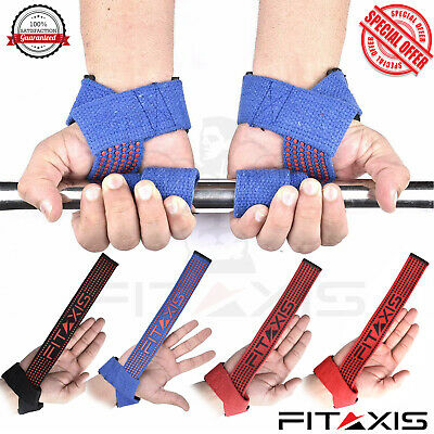 FITAIXS Weight Lifting Straps Gym Training Straps Wrist Support Gloves Wrap NEW